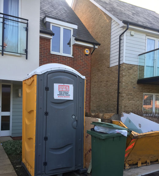 Portable loo for building workers in a private house